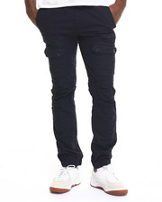 Basic Essentials - Slim - Fit Front - Pocket Cargo Joggers W/Drawstring