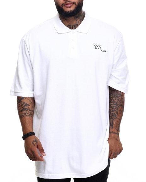 Ur-ID 219943 Rocawear - Men White,White Classic Script Polo (B&T)