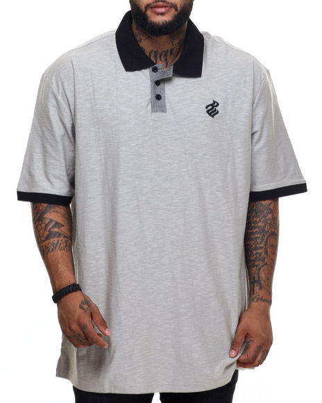 Ur-ID 219944 Rocawear - Men Grey Tournament Polo (B&T)
