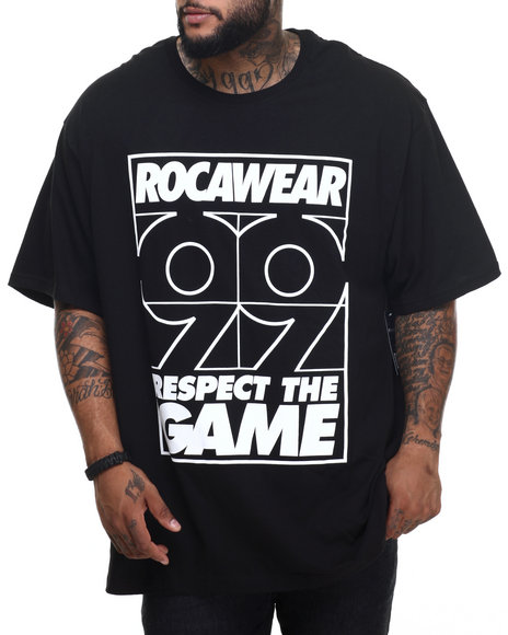 Rocawear - Men Black Stay Winning Tee (B&T)