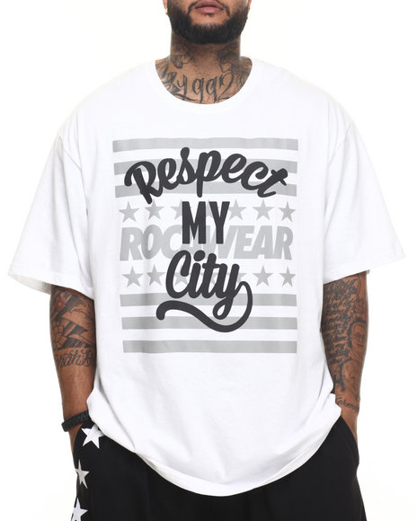 Rocawear - Men White City Respect Tee (B&T)