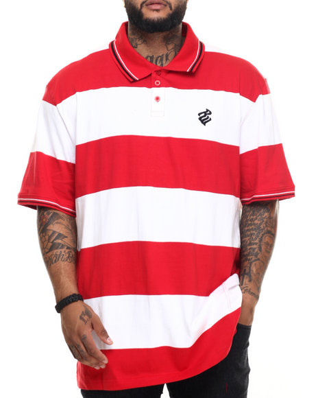 Rocawear - Men Red Roc Club Polo (B&T) - $45.99