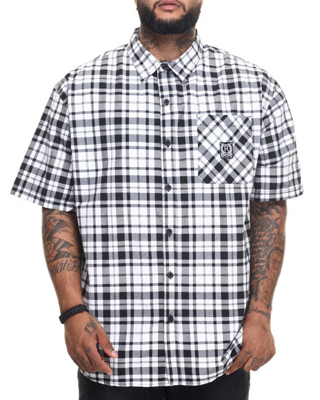 Rocawear - Men Black Dark City S/S Button-Down (B&T)