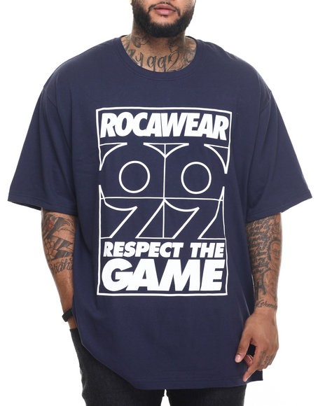 Rocawear - Men Navy Stay Winning Tee (B&T) - $27.99