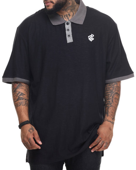 Rocawear - Men Black Tournament Polo (B&T)