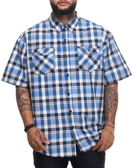 Rocawear - Men Navy Ice Tea S/S Button-Down (B&T)
