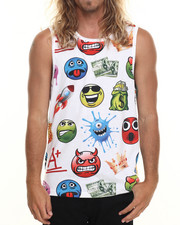 Men - Allover Emoji tank top
