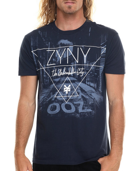 Ur-ID 220004 Zoo York - Men Navy Dark Alley S/S Tee