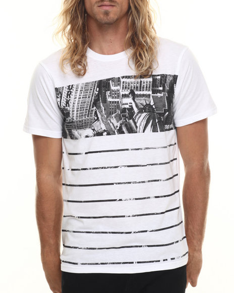 Ur-ID 220034 Zoo York - Men White City Stripe Crewneck S/S Tee