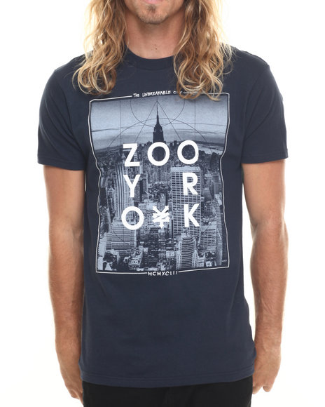Ur-ID 220014 Zoo York - Men Navy Capita S/S Tee