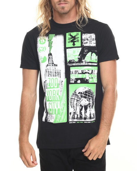 Ur-ID 220021 Zoo York - Men Black City Shriek S/S Tee