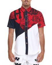 Heritage America - Color Print S/S Button-Down