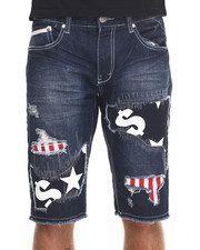 Heritage America - Distressed Patch Denim Short