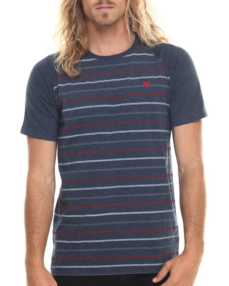 Ur-ID 220036 Zoo York - Men Navy Runner Striped S/S Tee