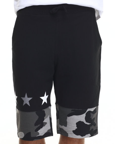 Buyers Picks - Men Black Ringer Camo Shorts - $14.99