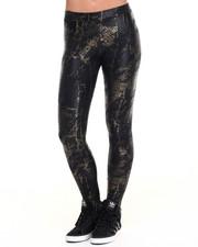 Women - Gold Foil Python Liquid Legging