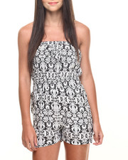Women - Scroll Print Challi Tube Romper