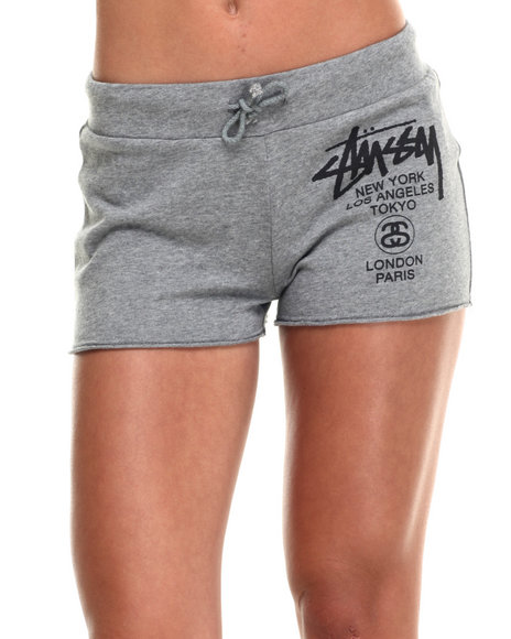 Stussy - Women Grey World Tour French Terry Shorts