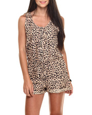 Women - Animal Print Challi Romper