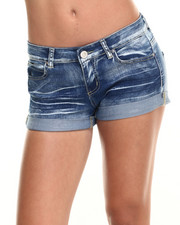 Shorts - Roll Cuff Denim Short