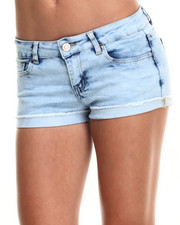 Shorts - Acid Wash Cuffed Denim Short