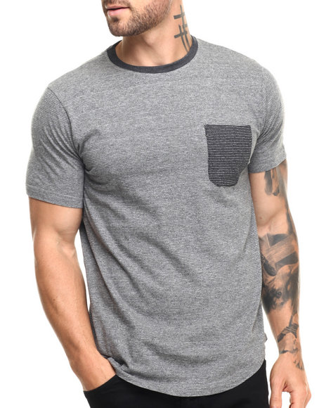 Buyers Picks - Men Grey Ken Scoop Hem S/S Tee