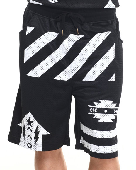 Buyers Picks - Men Black S Q Z Solid Mesh Shorts