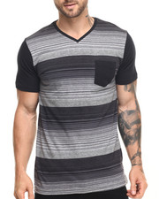 Shirts - Wings Stripe V-Neck Tee