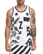 Men - S Q Z Mesh Cut - Block Tank Top