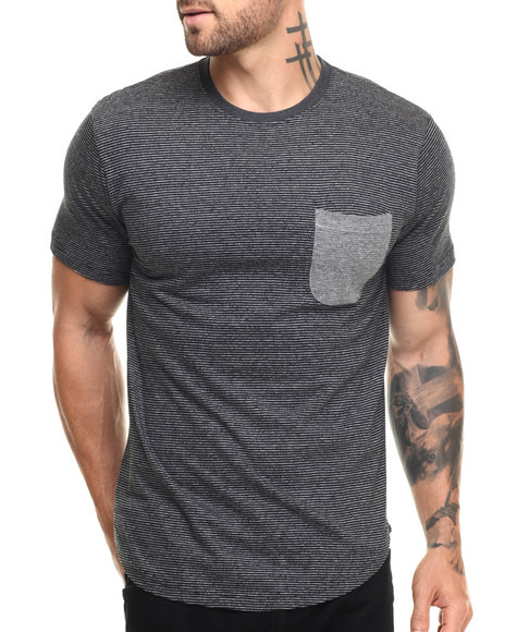 Buyers Picks - Men Black Ken Scoop Hem S/S Tee
