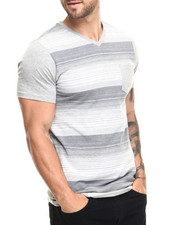 Men - Wings Stripe V-Neck Tee