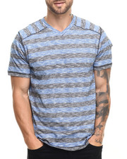 Men - Marc Stripe V-Neck Tee