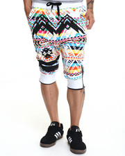 Shorts - Navajo - Printed French Terry Joggers