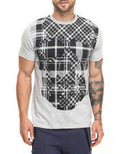 Men - Plaid Skull Tee
