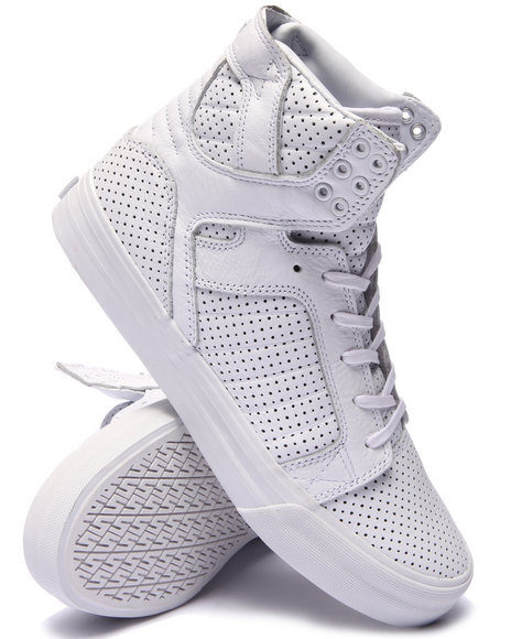 Ur-ID 220124 Supra - Men White Skytop Hf Sneakers