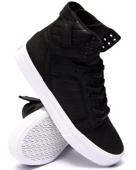 Supra - Men Black Skytop Hf Leather Sneakers
