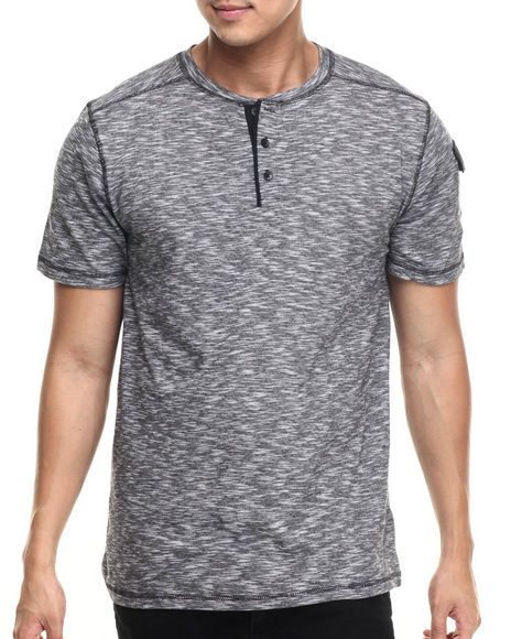 Buyers Picks - Men Black Noir S/S Henley