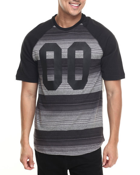 Buyers Picks - Men Black Wings # S/S Raglan Tee
