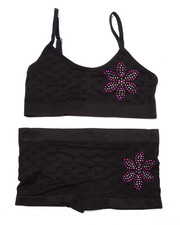 Girls - Teen Bling Flower Seamless Bra/Short Set