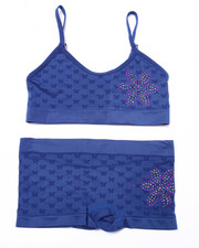Fall Shop - Girls - Teen Bling Flower Seamless Bra/Short Set