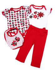 Sets - 4 PC LADYBUG BOX SET (NEWBORN)