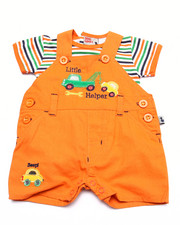 Sets - LIL' HELPER SHORTALL SET (NEWBORN)