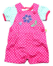 Sets - POLKA DOT SHORTALL SET (NEWBORN)