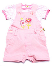 Sets - RAILROAD STRIPE SHORTALL SET (NEWBORN)