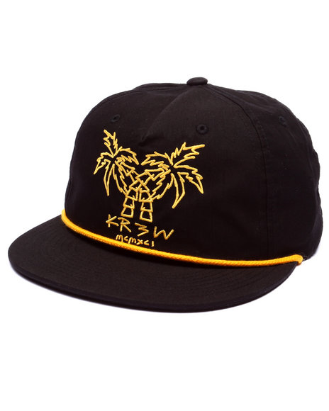 Kr3w Men 2 Palms Snapback Cap Black - $23.99