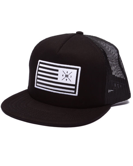 Kr3w Men Flag Trucker Snapback Cap Black - $21.99