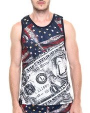 Buyers Picks - Flag & Money Mesh Tank Top