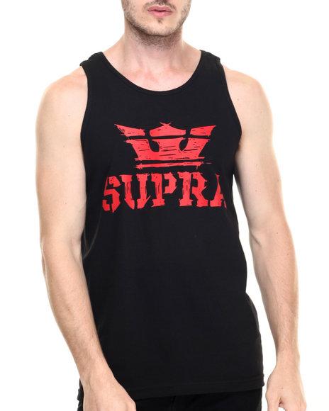 Ur-ID 220164 Supra - Men Black Above Scratch Tank