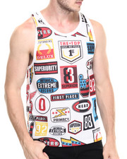 Men - Nascar Patch Mesh Tank