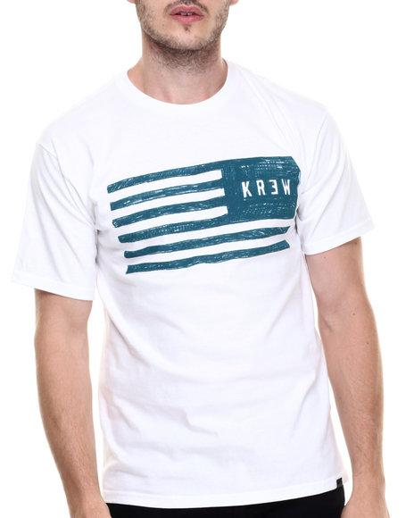 Ur-ID 220172 KR3W - Men White Sketch Flag Tee